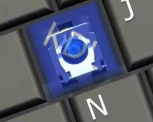 Key + hinge + cup