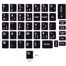 N5 Key stickers - French - large kit - black background - 14:12mm